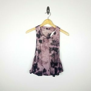 UO Out From Under Cropped Tie Dye Medium Purple